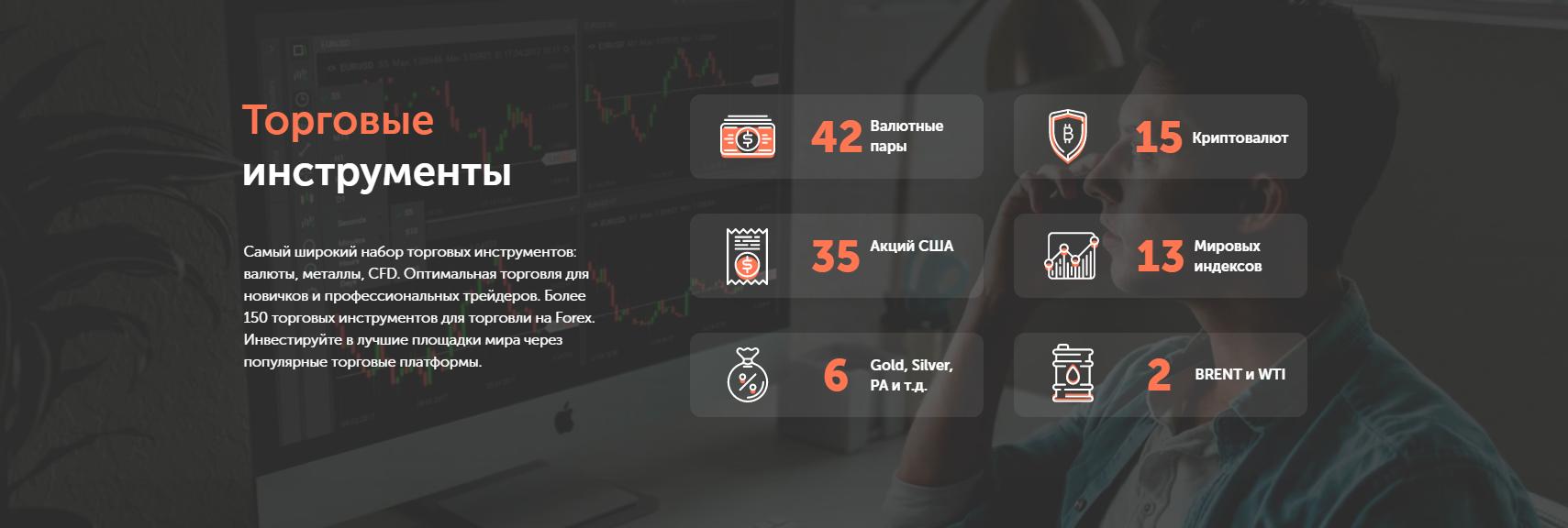 Главная страница G Invest и спектр услуг