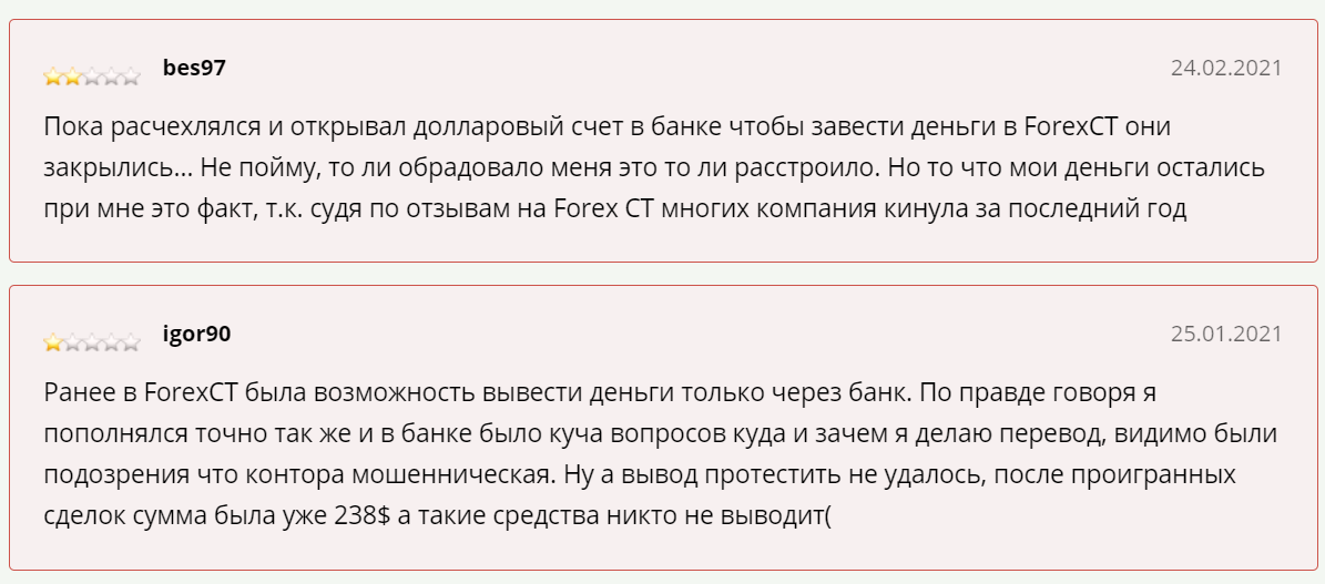 Отзывы про Forex CT